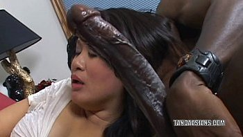 big dick in an asian chick
