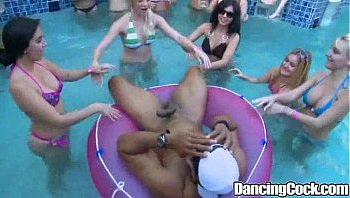 dancing bear pool party
