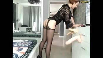 long legs black stockings