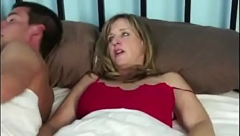stepmom and son share bed
