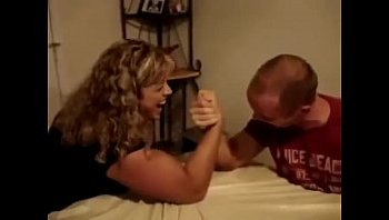 mixed armwrestling man vs woman